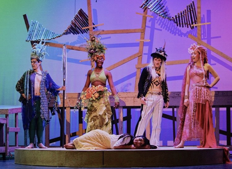 Colorful costumes ruled this spring musical with its vibrant palette.