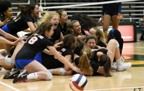Girls' volleyball wins states completing an undefeated season