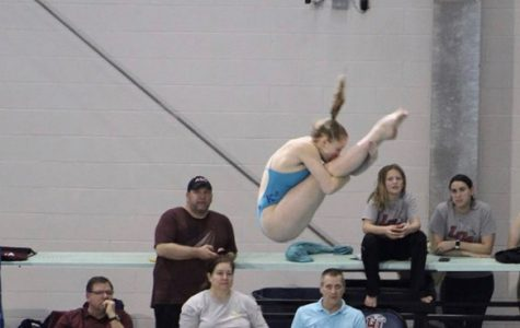 Reigning state champion diver Francella and freshman Pearson place at states