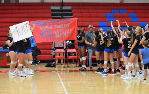Girls volleyball Coach Craig Dooren achieves 400th win at PA