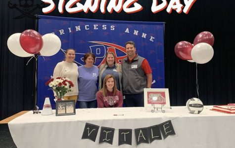 Alyssa Vitale signs to Lafayette College for Division I volleyball