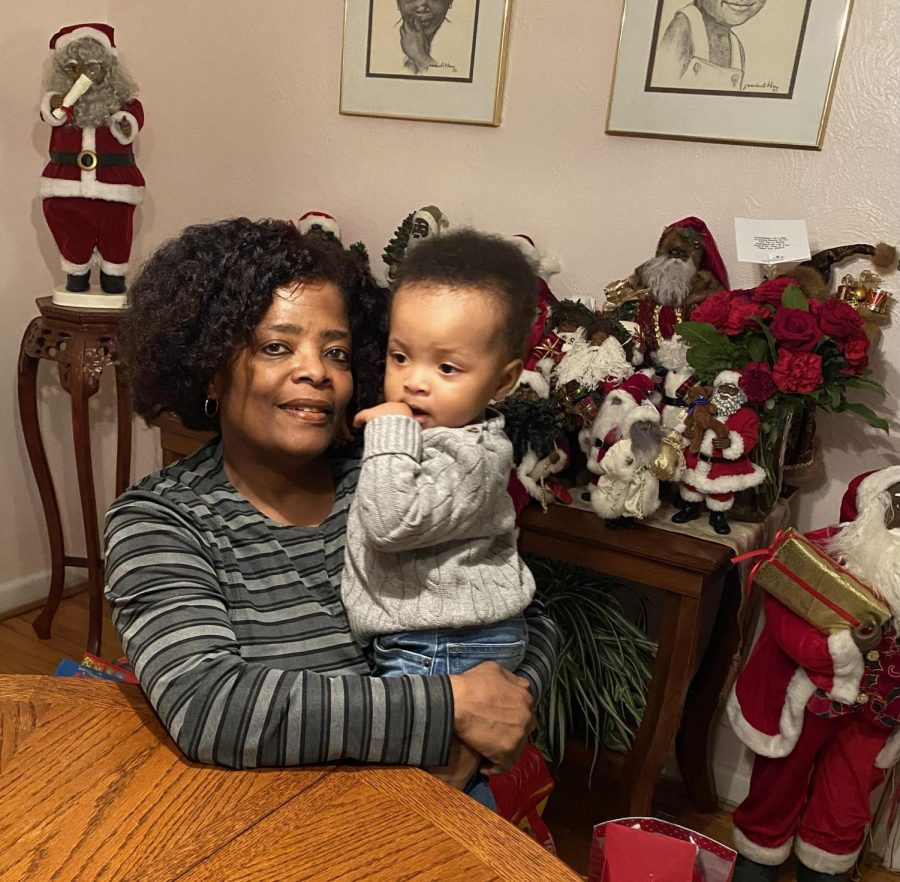 Gina Faison with her grandson. Courtesy of Faison.