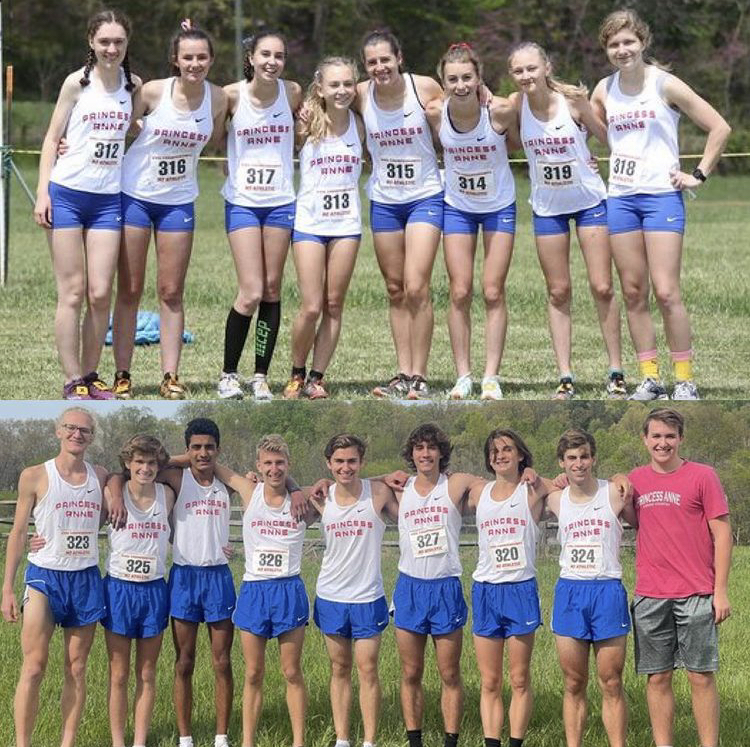 PA+Cross+country+girls+and+boys+team+on+April+23.+Courtesy+of+%40princessanne_xc.